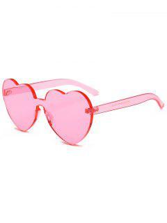 Gafas De Sol De Una Pieza Anti-fatiga Corazón Lente - Cerdo Rosa