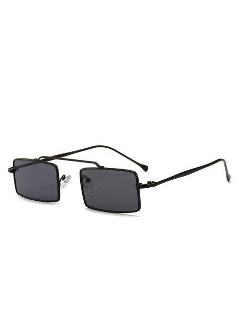 Anti Fatigue Rectangle Frame Crossbar Lunettes de soleil - Noir  Mobile