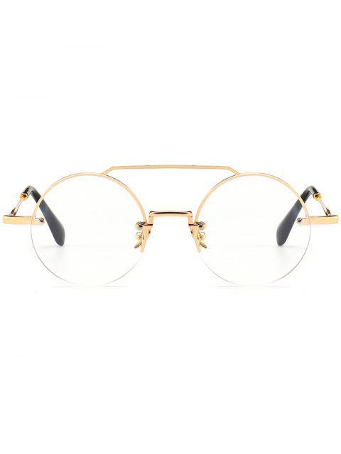 Novedad Crossbar gafas de sol redondas sin montura - Transparente  Mobile