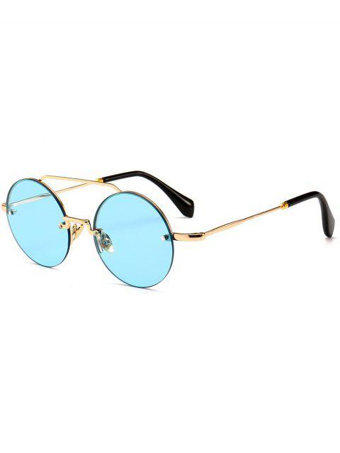 Occhiali Da Sole Non Cerchiati Rotondi Anti Stanchezza - Blu  Windows  Mobile