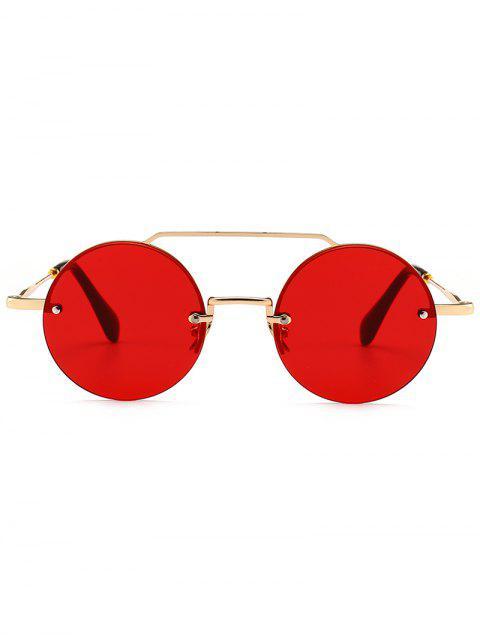 النظارات الشمسية المستديرة الجدة Crossbody بدون إطار - أحمر  Mobile
