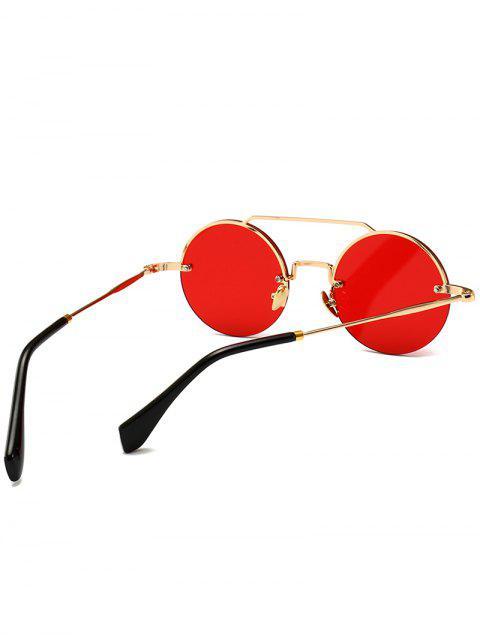 Novelty Crossbar Round Óculos de sol sem aro - Vermelho  Mobile
