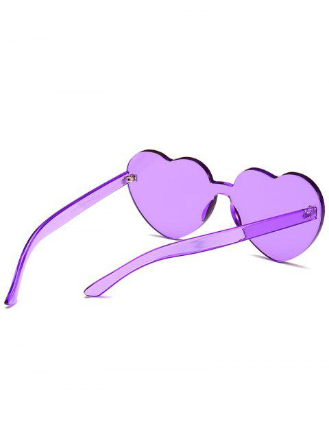 outfit Anti Fatigue Heart Lens One Piece Sunglasses - VIOLET  Mobile