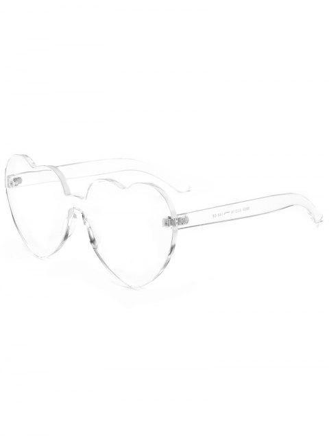 Anti Müdigkeit Herz Linse Einteiler Sonnenbrille - Transparent  Mobile