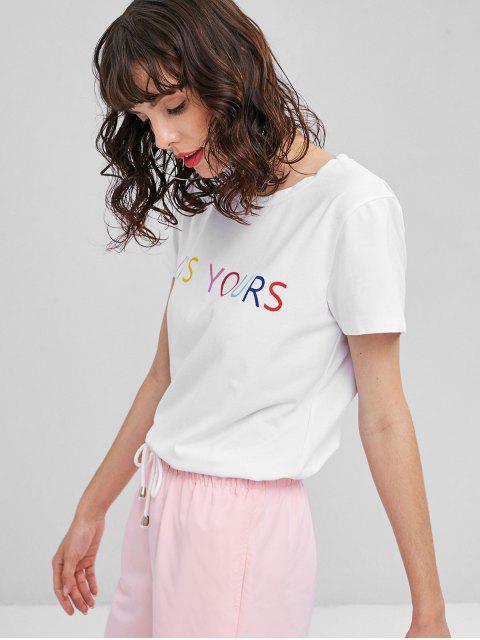 T-Shirt Motif It's Yours Style Graphique - Blanc L Mobile