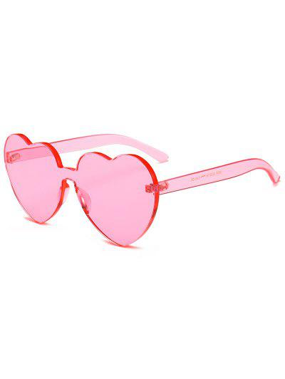 eb44393313 Anti Fatigue Heart Lens One Piece Sunglasses - Pig Pink ...