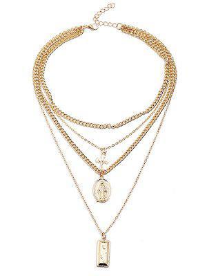 Geschichtete Kreuz geometrische Form Anhänger Kette Halskette