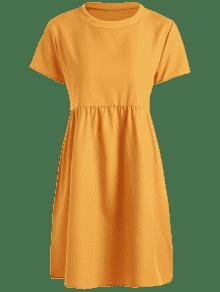Mini Vestido Amarilla S Casual De Shift Abeja rrxTqwn