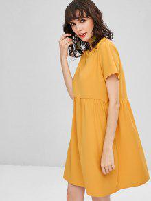 S Mini Shift Casual Vestido De Abeja Amarilla 1wYFaw