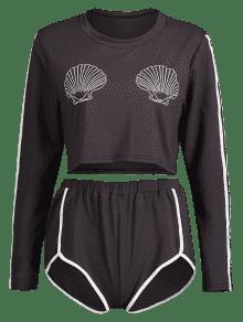 Pantalones De De Conjunto Cortos Delf Concha Contrastante 7OB6n0nwq