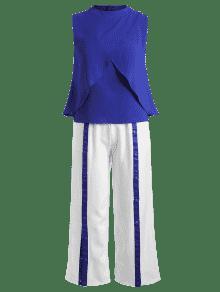 Presi Superior Con Parte Y Pantalones Botones Cord S A En La 243;n Azul Con 243;n qfBpU