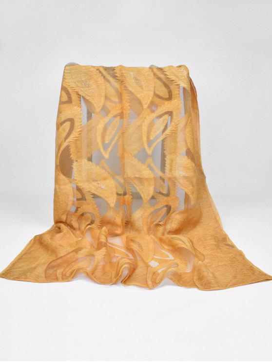 Patrón de plumas bufanda larga decorativa - Macarrones y Queso