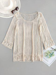 Crochet Tunic Top - Warm White