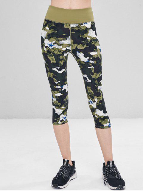 Camo Star Capri Leggings - Verde de Jungla  M Mobile