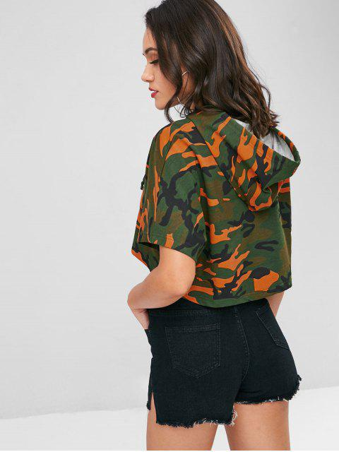 hot Camo Cropped Oversized Hoodie - ACU CAMOUFLAGE L Mobile