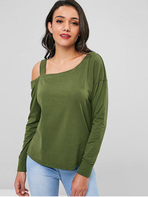 unique Straps Cut Out Top - FERN GREEN S Mobile