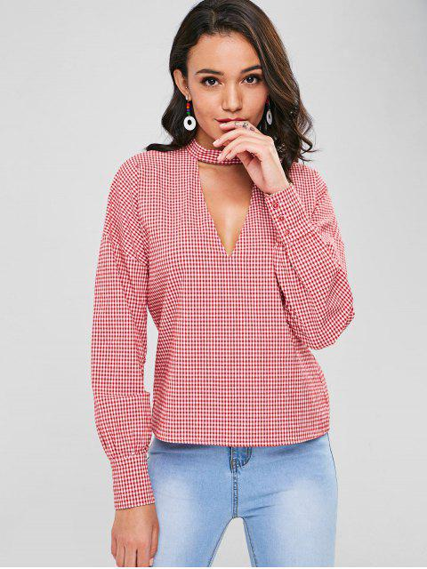 new Choker Gingham Top - LOVE RED M Mobile