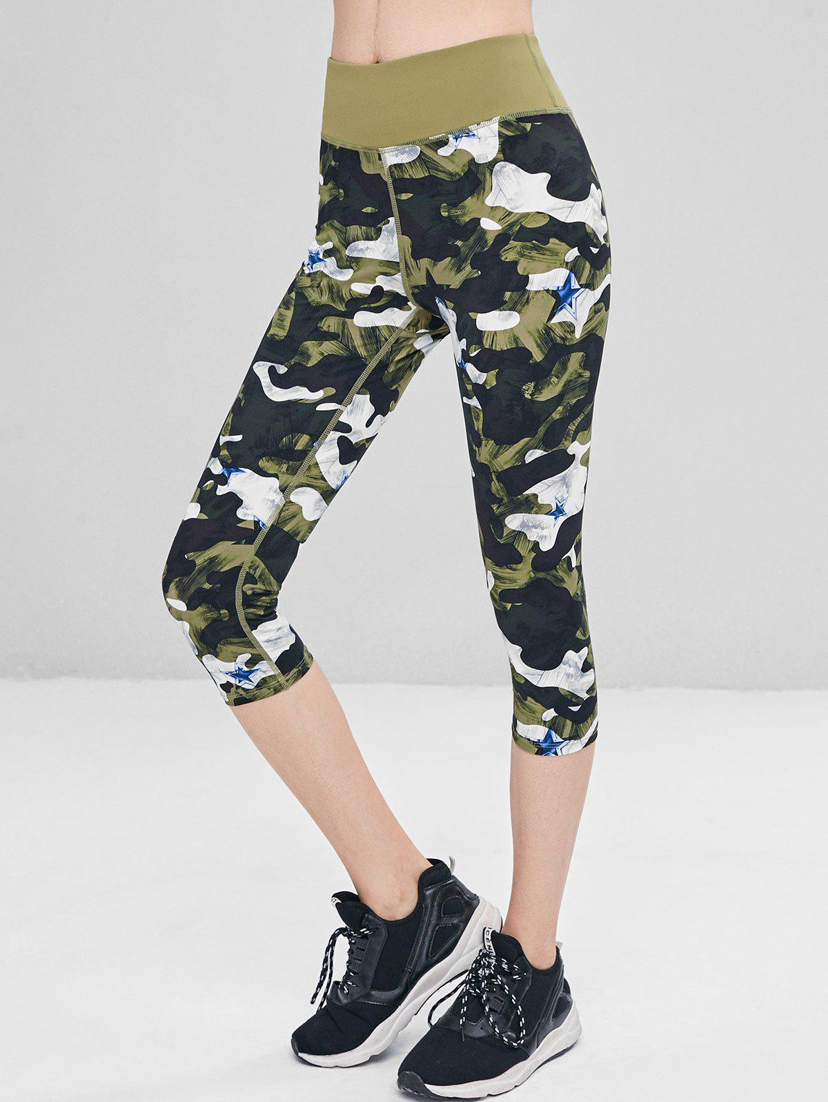 Camo Star Capri Leggings