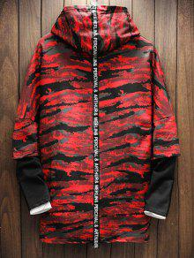 Casta Hoodie Camo Rojo Shoulder Panel M o Drop zqEYtIwz