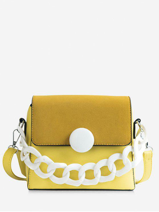 Kunststoffkette Chic Flapped Tägliche Sling Bag - Gelb
