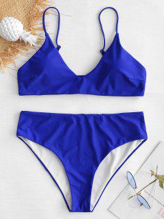 Plus Size Bralette Bikini Set - Cobalt Blue L