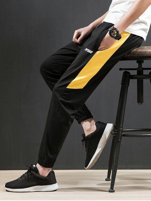 Pantalones Jogger Casual Splice Stripe Pocket - Amarillo M Mobile