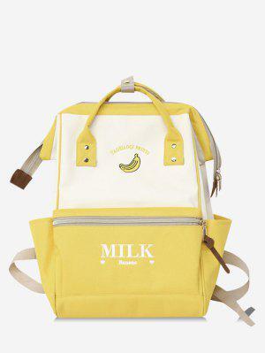 Portable Outdoor Funktionelle Kontrastfarbe Schulrucksack