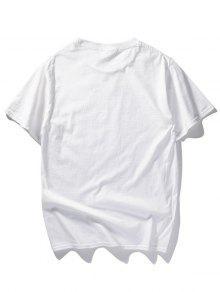 Camiseta Con Blanco Gun Holding L De Estampado De Manos rr1wZBqp