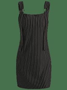 Negro Anchas De Mini Vestido Turno De L Rayas nYBqnpaT