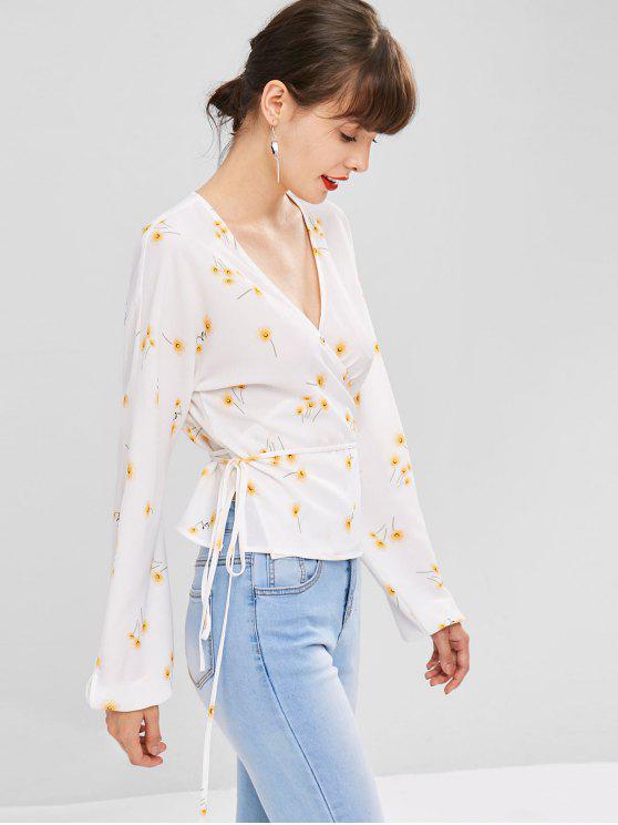 women's Daisy Wrap Blouse - WHITE S
