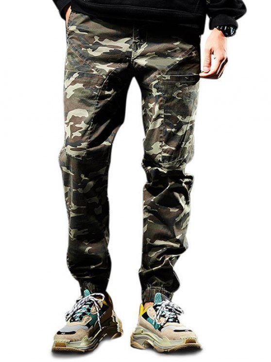 9fd70ffffdf07d 26% OFF] 2019 Multi-pocket Zip Fly Camouflage Jogger Pants In ARMY ...