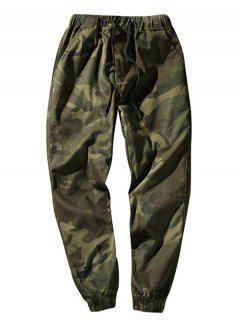 Elastic Waist Camouflage Casual Pants - Army Green Xs