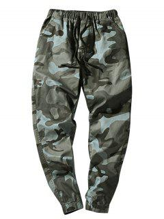 Elastic Waist Camouflage Casual Pants - Dark Gray Xs