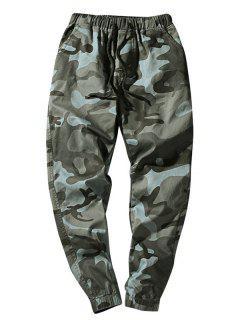 Elastic Waist Camouflage Casual Pants - Dark Gray Xs