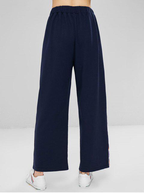 Pantalones anchos de rayas de colores - Azul de Medianoche S Mobile