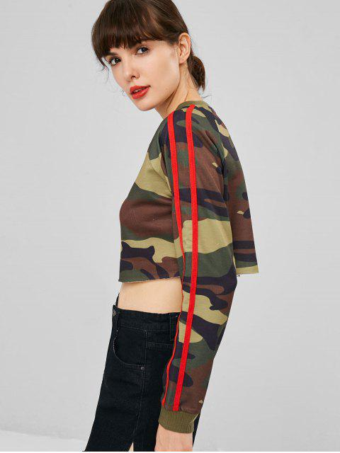 buy Stripes Patched Camouflage Sweatshirt - ACU CAMOUFLAGE L Mobile