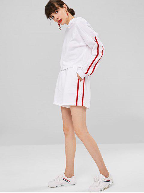 Short de survêtement taille haute à poches latérales - Blanc M Mobile