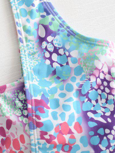 Colored Spot Bandeau Bikini Set, Multi