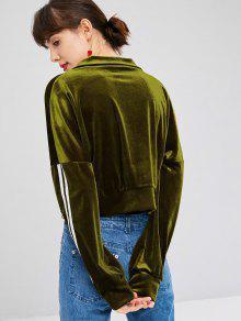 Sweatshirt Zip Verde Ejercito S Up Velvet AgqEwOg