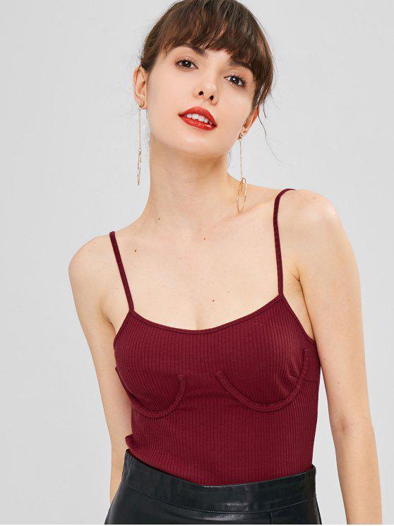 Bodysuit Cami A Costine - Vino Rosso M