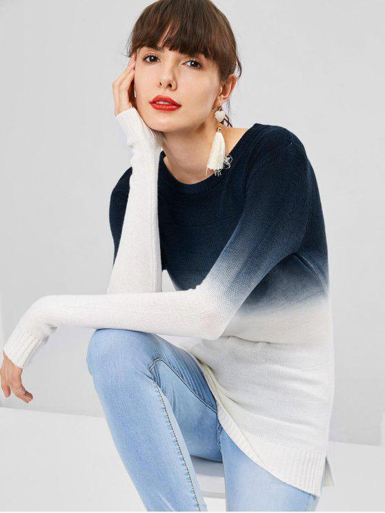 shops Side Slit Ombre Sweater - MULTI ONE SIZE