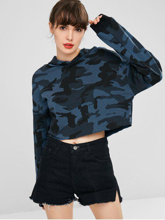 buy Camouflage Cropped Hoodie - MULTI S