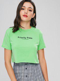 Camiseta De Tirantes Con Estampado De Letras - Manzana Verde