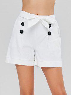 Pockets Sailor Shorts - White M