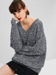 Übergroße Heather Sweater - Grau