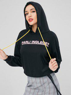 Parli Inglege Graphic Hoodie - Black L