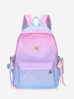 Gradient Color Canvas Backpack - Multi