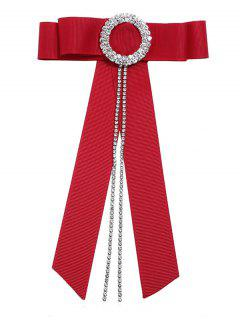 Clothes Accessory Bowknot Tie Necktie Corsage Brooch - Red