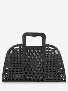 Going Out Picnic Breathable Hollow Out Tote Bag - Black