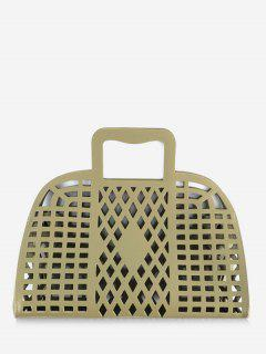 Going Out Picnic Breathable Hollow Out Tote Bag - Green